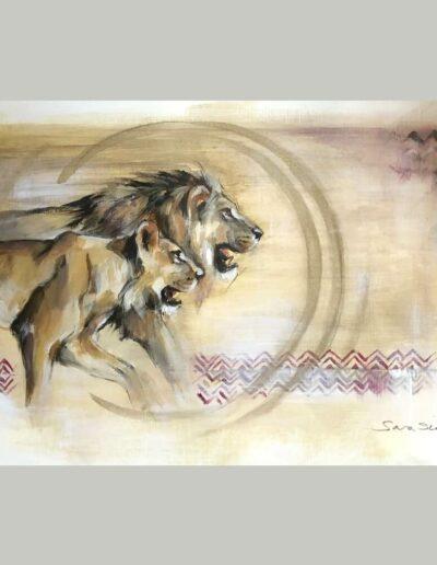 Wildlife art On the Hunt Sara Sian 2