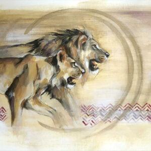 Wildlife art On the Hunt Sara Sian