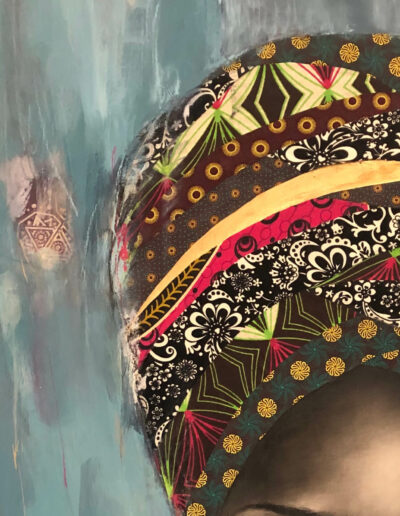 female portraits African painting Sara Sian Ulwazi detail