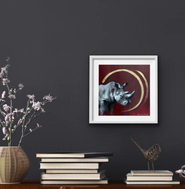 Wildlife art rhino Sara Sian