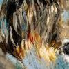 Wildlife art blue lion painting Sara Sian close up