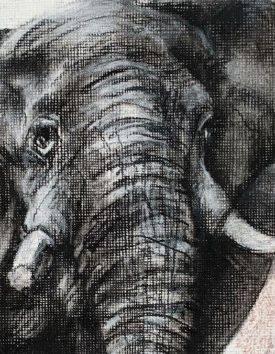 African symbol art elephant Sara Sian